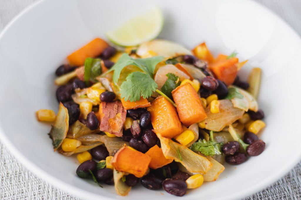 black bean and sweet potato bake