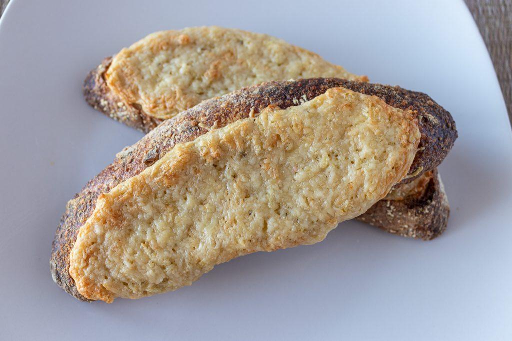 artichoke dip on toast