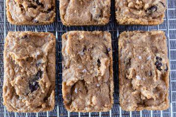 Peanut butter chocolate chunk bean blondies