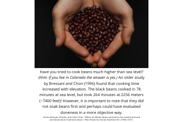 Legume Science Post #12 Mar-30-2021 - Elevation Increases Bean Cooking Time