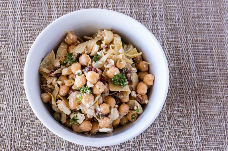 Mediterranean-ish Chickpea Salad