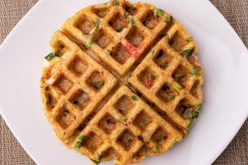 Fried rice waffle