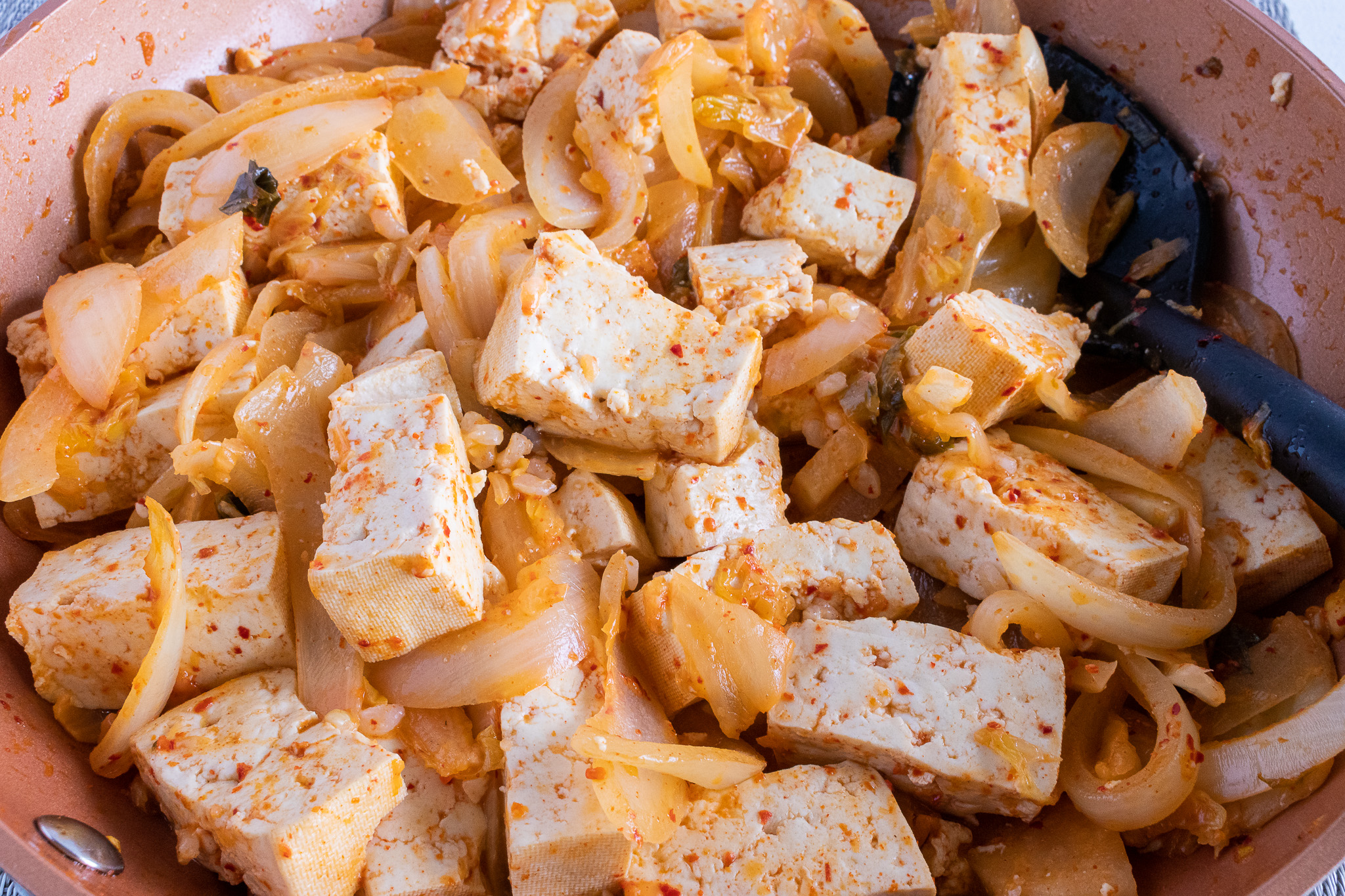 Kimchi Tofu Stir Fry
