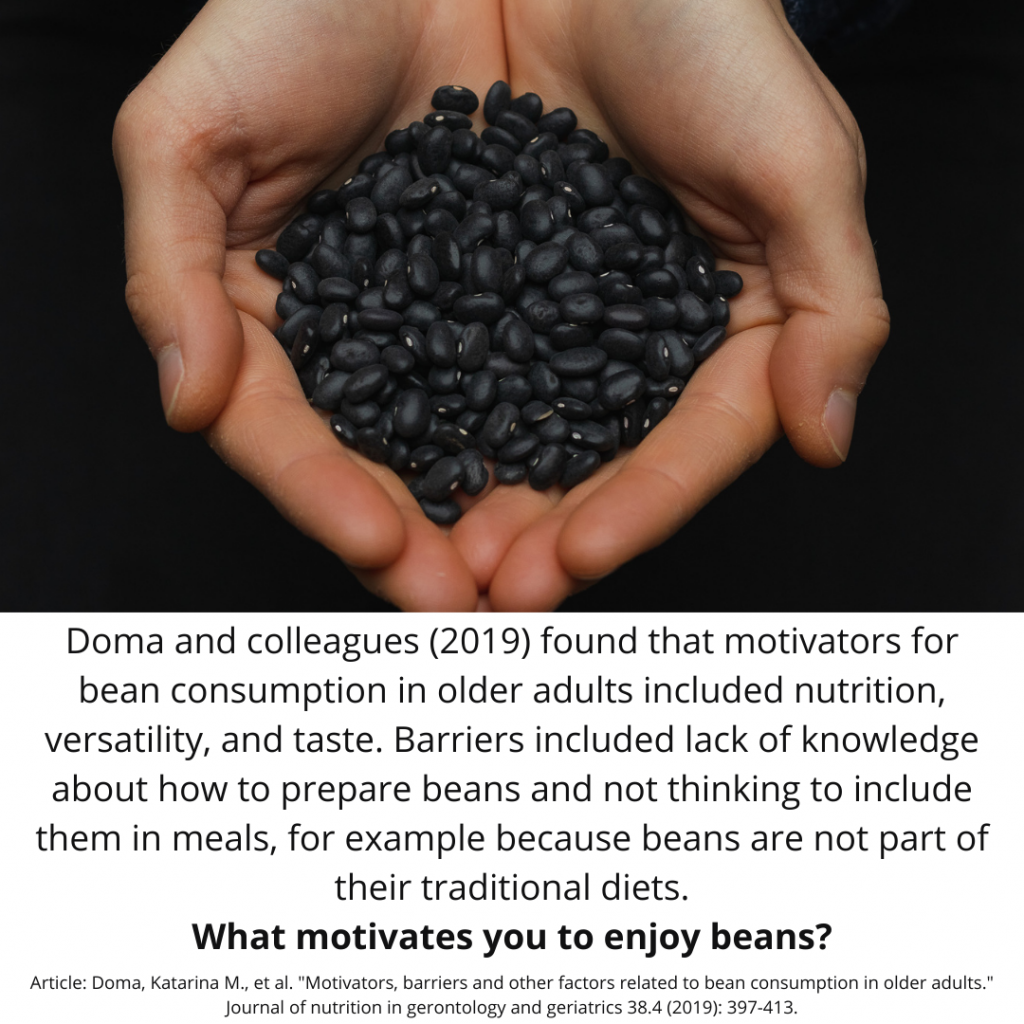 Legume Science Post #13 Apr-15-2021 - What Motivates People to Eat Beans?