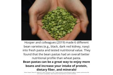 Legume Science Post #16 - May 18, 2021 - Bean Pasta