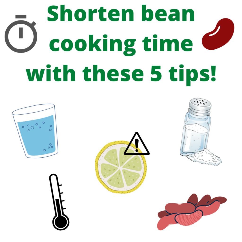 Beans and other pulses do not have to take a long time to cook! Here are 5 ways to shorten bean cooking time to get them on your table faster!