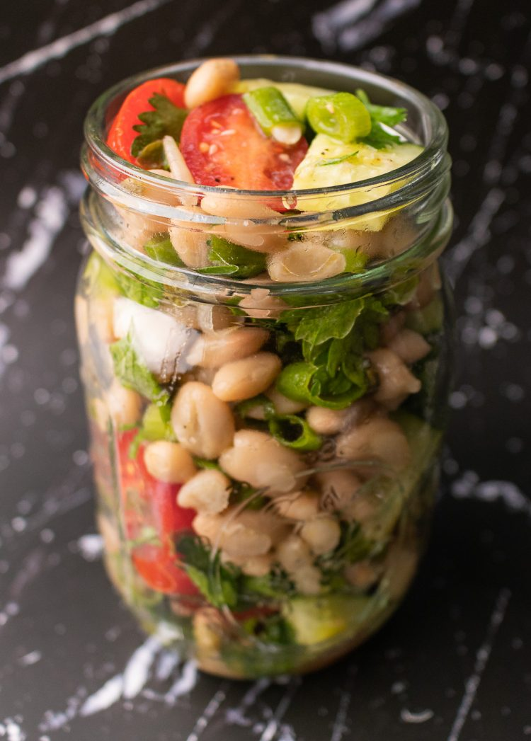 Lemony White Bean and Parsley Salad