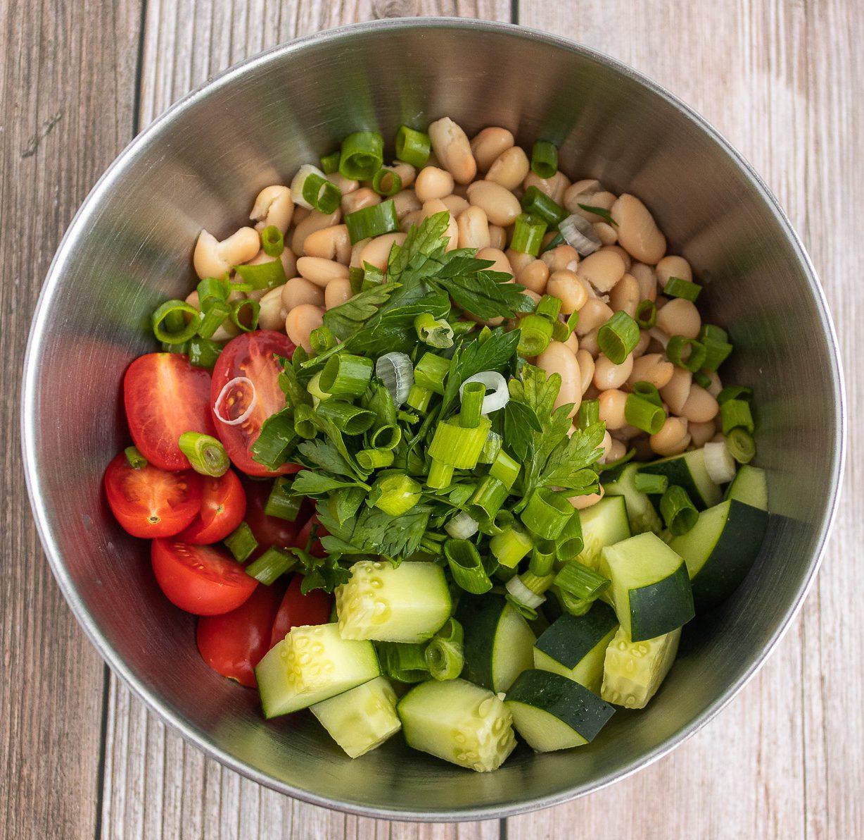 Lemony White Bean and Parsley Salad Ingredients