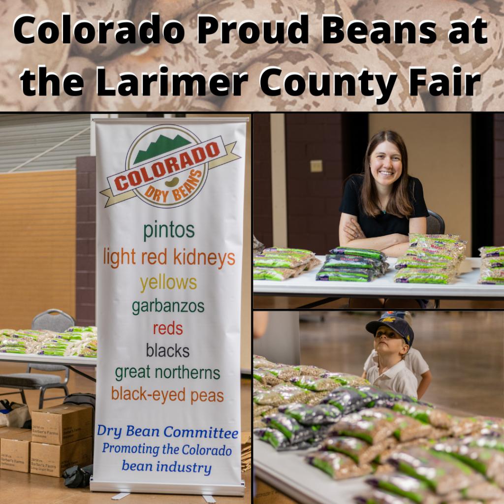 Colorado Proud Beans at the Larimer County Fair - Aug 2021