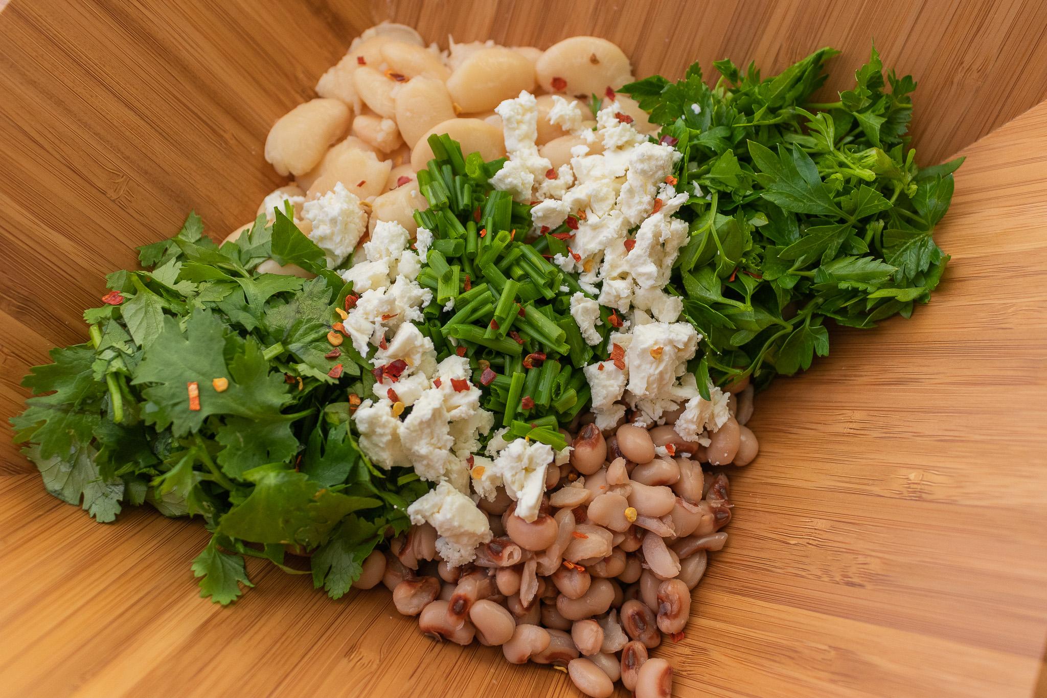 Herby Bean Toast Ingredients